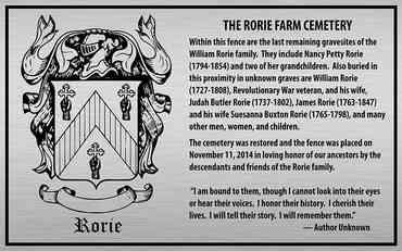 Family Cemetery Plaque