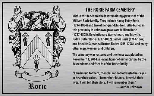 Family Farm Cemetery Plaque