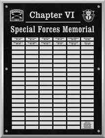 Army Military Special Forces Memorial Plaque