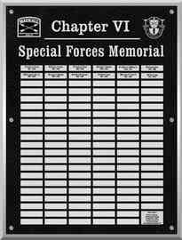 U.S. Army Special Forces Memorial Plaque