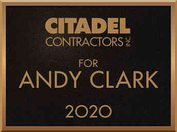 Contractor Business Name Plaque