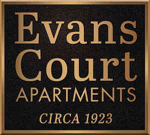 Historic Apartment Entrance Plaque with Date