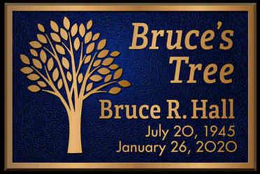 Memorial Tree Plaque on Post