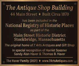 Historic Building Bronze Plaque with Description
