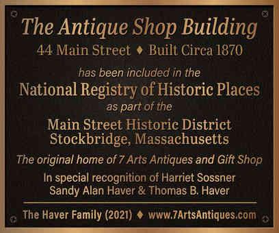 Antique Shop Building Business Plaque