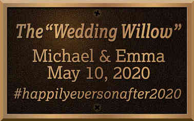 Wedding Tree Dedication Plaque