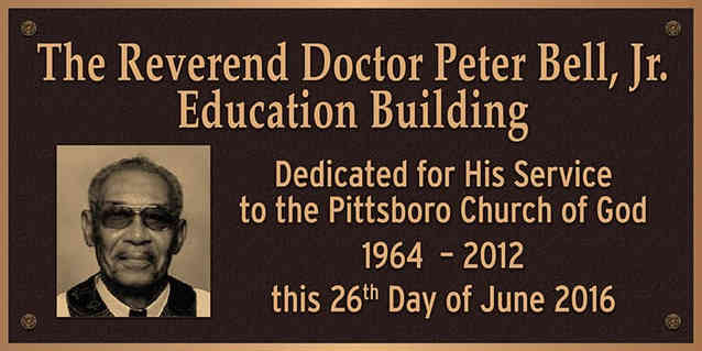 Church Building Identification & Dedication Wall Plaque