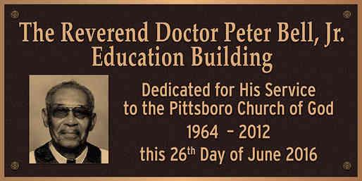 Church Dedication / Appreciation Wall Plaque for Pastor
