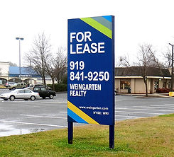 construction and commercial real estate sign