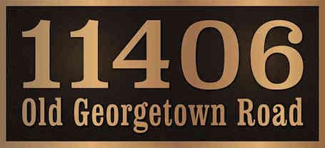 Cast Bronze Custom Address Plaque