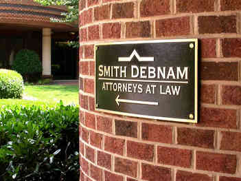 Law Office Building Directional Plaque