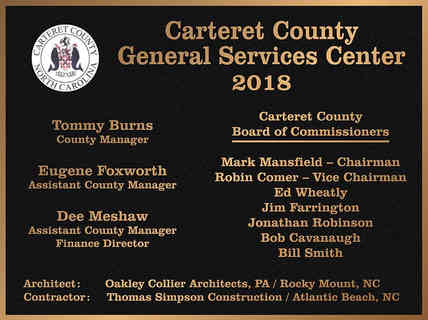 County General Services Center Dedication Wall Plaque