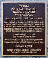 Dedication Plaque for American Post Legion
