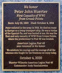 Dedication Plaque for American Post Legion