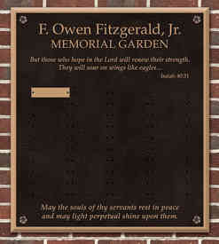 Memorial Garden Columbarium Wall Plaque with Nameplates