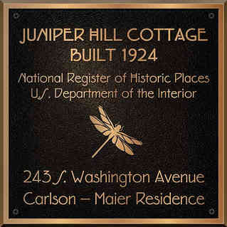 Custom Historic Cottage National Register Plaque