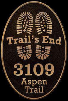Custom Bronze Mountain Cabin Address Plaque