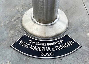 Curved Plaque for Flagpole Base