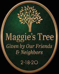 Custom Tree Dedication Plaque on Garden Stake