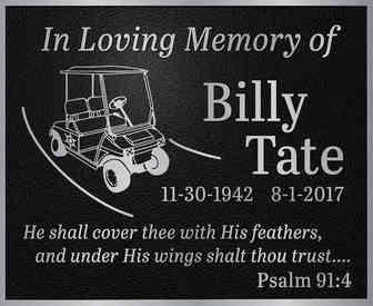 """In Loving Memory"" Plaque with Custom Graphic"