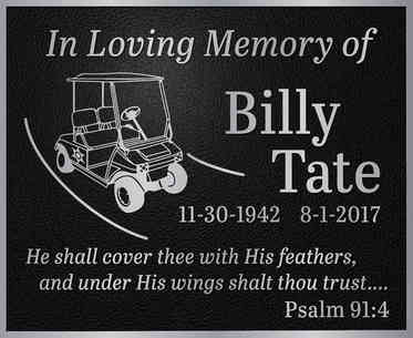 """""""In Loving Memory"""" Plaque with Custom Graphic"""