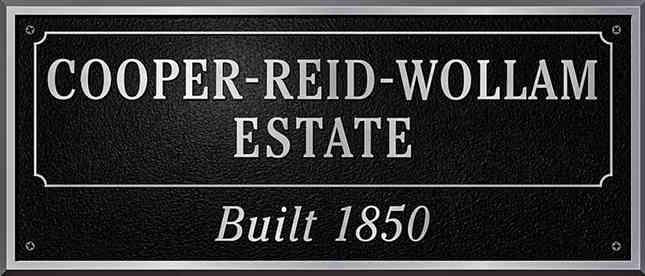 Historic Estate Plaque