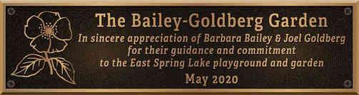 Appreciation Plaque for Garden
