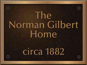 Bronze Historical Home Plaque