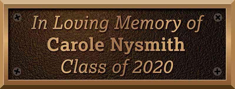 Bronze School Bench Plaque