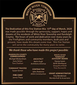 Fire Station Dedication Wall Plaque