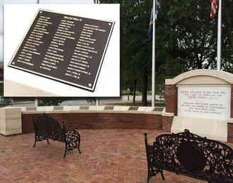 All Wars Veterans Memorial Plaques