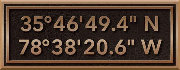 Latitude Longitude Plaque