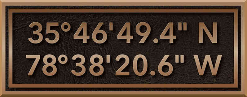 Latitude Longitude Address Plaque