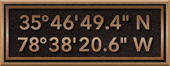 Latitude Longitude Plaque