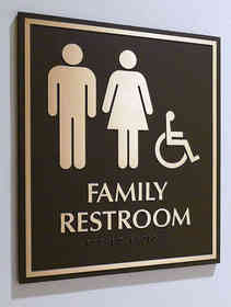 Family Restroom Plaque with Braille