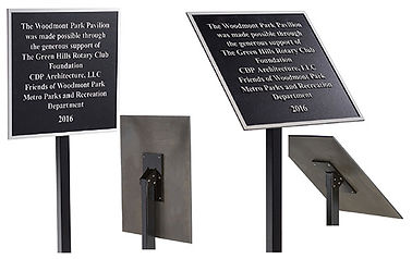 post mounts for plaques