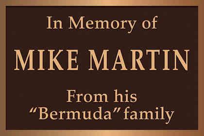 Memorial Plaque for a Friend
