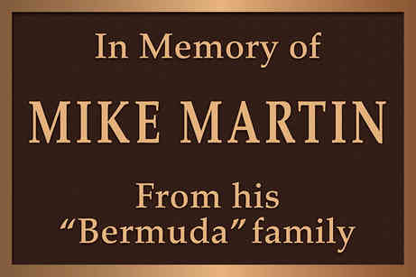 Memorial Plaque for a Friend