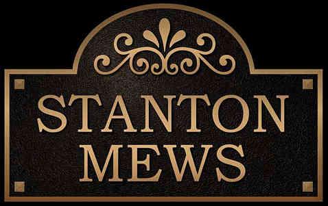 Custom Shape Bronze Address Entrance Plaque