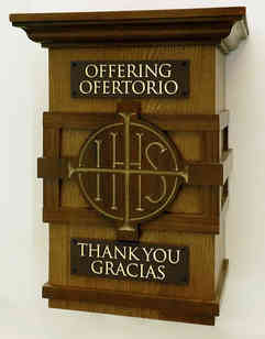 Cathedral Offering Box Plaques