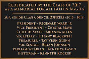 University Class Dedication Memorial Plaque