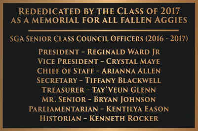 Memorial University Class Plaque