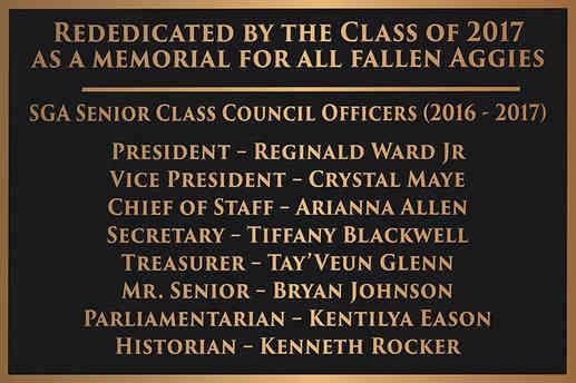 Memorial University Class Plaque