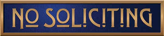 No Soliciting Arts and Crafts Style Plaque