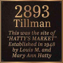 Historical Site Address Plaque