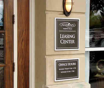 Leasing Office and Office Hours Plaques