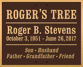 Memorial Tree Plaque