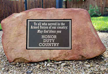 """Custom Flagpole Plaque Dedicated """"To All Who Served"""""""