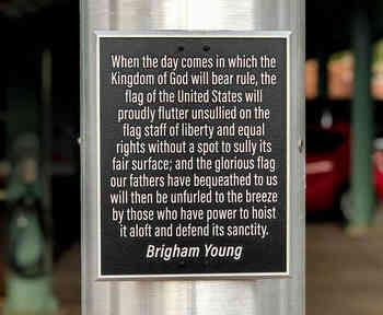 Inspirational Aluminum Flagpole Plaque