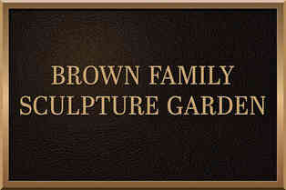 Sculpture Garden Identification Plaque